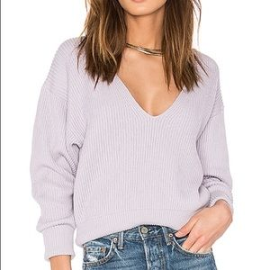 Free People Allure Sweater in Lavender